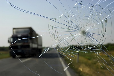 Broken Car Windshield